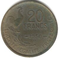 1950 B France 20 Francs 4 Plumes | European Coins | Pennies2Pounds