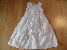 E-GIRLS schönes festliches Kleid weiß Kommunion Hochzeit Gr. 122 TOP TH416