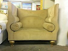 "SALE!! Glamorous High Back Micro Suede Love Seat - Light Brown - 51"" Tall"