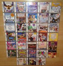 JOBLOT de 33x Paquete de videojuegos Nintendo DS en Caja Dsi Xl Lite 2DS 3DS compatible