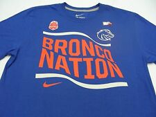 BOISE STATE BRONCOS - BRONCO NATION - NIKE - FIESTA BOWL - LARGE SIZE T SHIRT!