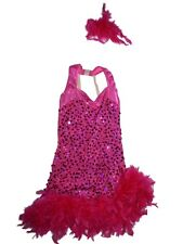 Girl A Wish Come True Pink Feathers Accentuate the Positive Dance Costume 12-14