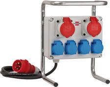 Brennenstuhl Stromverteiler 16A / Baustromverteiler mit Stahlrohrgestell (2m für