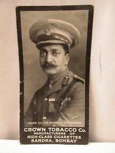 "Vintage Cigarettes Card Crown Tobacco Co Major H.H. The Maharaja Of Kishangarh""3"