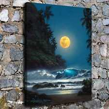 "16""x20""Evening Moon HD Canvas prints Painting Home decor Picture Wall art Poster"