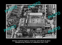 OLD LARGE HISTORIC PHOTO BRIXTON LAMBETH ENGLAND AERIAL VIEW OF CHEMIST c1950