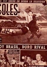 SOCCER Argentina vs Paraguay - Copa del Atlántico 1960 Original GOLES Magazine