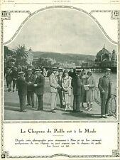 Publicité ancienne le chapeau de paille 1925 issue de magazine