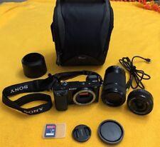 SONY Alpha a6000 24.3MP Digital SLR Camera - 16-50mm and 55-210mm Lens Mint!