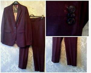 NEXT SIZE 16 PETITE JACKET & 16 PETITE CROP TROUSER TAILORED SUIT SET BNWT £101