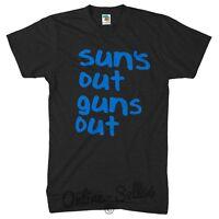 Suns Out Guns Out TSHIRT Summer SHIRT Tank Jump Top Street 22 Lad Men Funny Vest