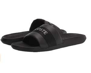 LACOSTE 741CMA000702H CROCO SLIDE 0721 1 Mn`s (M) Black Synthetic Sandals