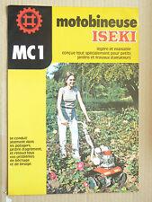 Prospectus  Motoculteur ISEKI  MC1 Non daté brochure catalogue prospekt traktor