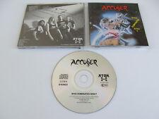 ACCUSER Who Dominates Who CD 1989 MEGA RARE THRASH ORIGINAL 1st PRESSING ATOM H!