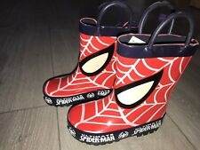 Spiderman Wellies Welly Rubber Wellington Rainy Boots Boys Girls Kids UK Stock .