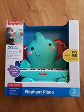 New listing New In Box Fisher Price Elephant Piano Music Keyboard Ages 2+ Play Stop Record