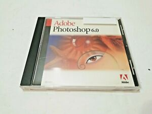 ADOBE PHOTOSHOP 6.0 EXCELLENT SOFTWARE CD DISC WORKING GREAT WITH CASE