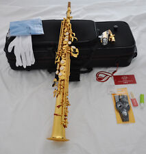Professional TAISHAN gold Soprano Sax Saxophone High F# FREE ALL Accessories