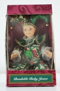"""Bendable Baby Jester Clown Doll - NIB - Approx. 9"""" Standing 7"""" Sitting"""