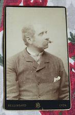 Photographie ancienne CDV Portrait homme moustachu photo Bellingard Lyon
