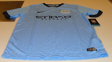 2014-15 Manchester City Soccer Home Jersey Short Sleeves Premier League XS Boys