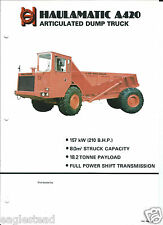 Equipment Brochure - Haulamatic - A420 - Articulated Dump Truck (E3115)
