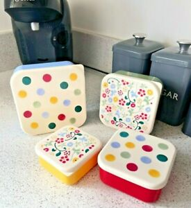 Emma Bridgewater: Polka Dot & Flowers ; Set of 4 Snack Tubs