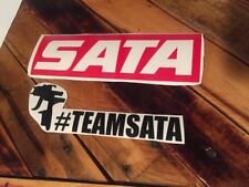 "Sata Spray Gun Decal 8"" Long Jet Mini Gun Wall Garage Paint Booth Sticker"
