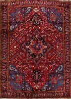 Geometric Heriz Serapi Traditional Area Rug Wool Oriental Handmade Carpet 9'x12'