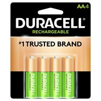 4/pack Duracell AA Rechargeable Batteries AA4 1.2V NiMH DX1500
