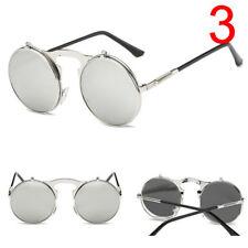 Fashion Retro Vintage Gothic Round Flip up Sunglasses Steampunk Glasses Iy Style 1