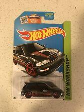 Hot Wheels 2015 HW CITY 1990 Honda Civic EF Black Color