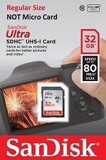32gb Scheda SDHC SanDisk Ultra Uhs-i 80mb/s Cl. 10 Sdsdunc-032g-gn6in SDSDUN