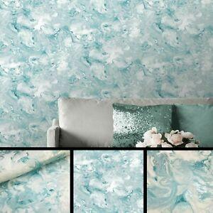 Muriva Elixir Liquid Marble Metallic Shimmer Heavyweight Teal 166503 Wallpaper