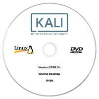 Kali Linux 20209.1b 64bit Bootable run Live or Install DVD Ethical Hacking