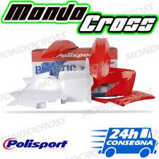 Kit plastiche cross mx POLISPORT Rosso Bianco HONDA CR 125 2004 (04)!