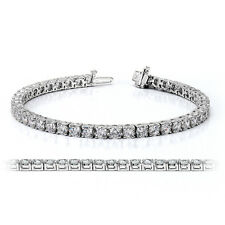 925 Sterling Silver Tennis Bracelet with Ideal Cut CZ