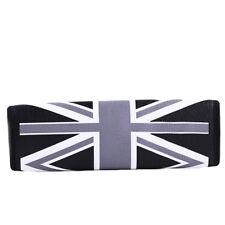 British Flag Style Gray+Black Car Safety Seat Belt Strap Shoulder Cover Pad G