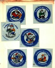 SET OF 16 FLORENCE # 2 JOB CLASSIFICATIONS COAL MINING STICKERS # 949