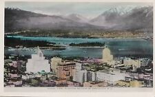 Aerial View Business Section VANCOUVER B.C. Canada Gowen Real Photo Postcard 201