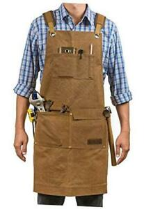 Woodworking Shop Aprons for Men and Women | 16 oz Durable Waxed Canvas Work