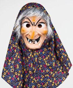 Hexenmaske mit Kopftuch und Haar 06