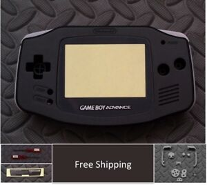 GBA Nintendo Game Boy Advance Replacement Housing Shell Screen Black USA!