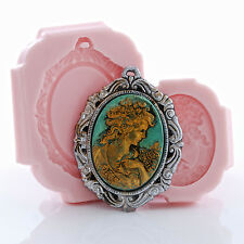 Lady Cameo Silicone Mold & Cameo Setting Mold Set Clay Resin Food Safe (272)