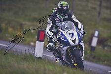 Gary Johnson Hand Signed 12x8 Photo Smiths Triumph Isle of Man TT 3.