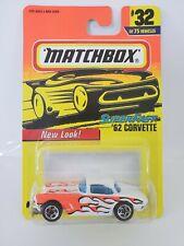 1995 Matchbox 1962 Corvette #32 - White - China Base