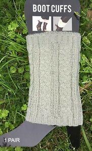 Women's Crochet Knit Leg Warmer Ankle High Boot Cuffs One Size