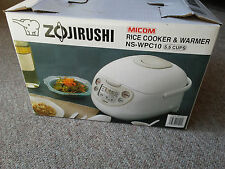 Zojirushi NS-WPC10 5.5 Cups Rice Cooker Steam Veggies Brown White & Warmer Micom