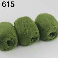 Sale Luxurious Soft 3x50g Mongolian 100%Cashmere Hand Knit Wool Crochet Yarn 15