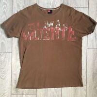 Men's Vintage Diesel T-Shirt, Brown, 90's, Size M, UK Seller